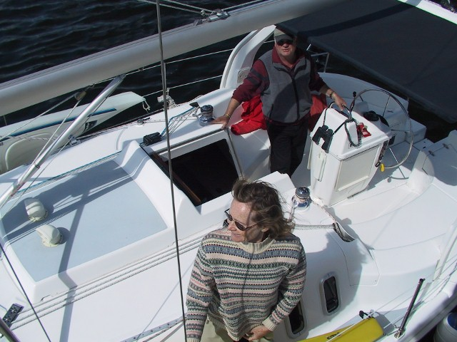 ... purchased a larger boat, Hunter's Moon, a Hunter 31.
