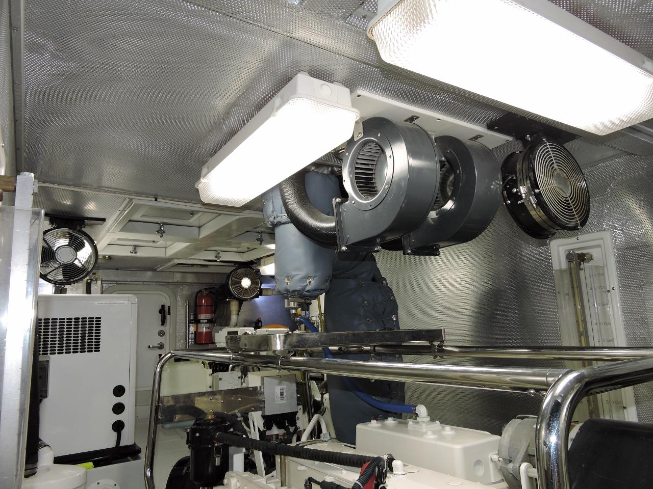 Engine Ceiling Fan : Engine room cooling mv dirona