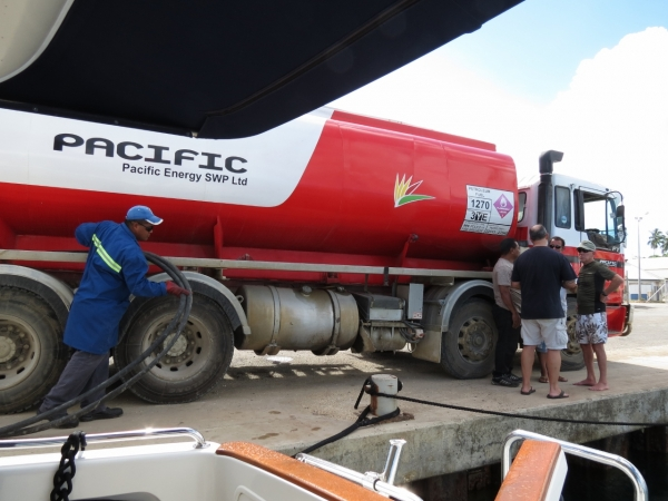 Fueling in Rodrigues, Mauritius