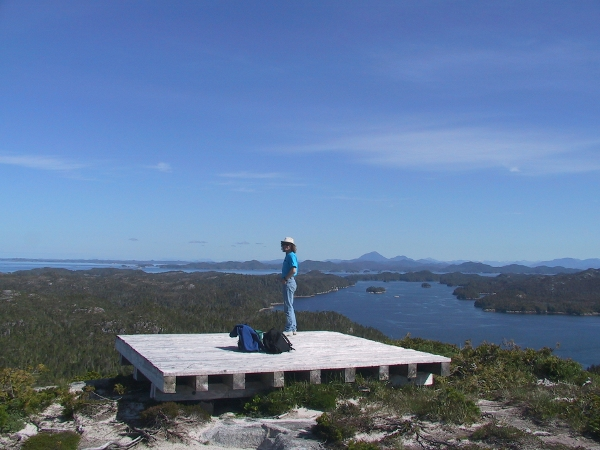 View from radio tower near Pruth Bay